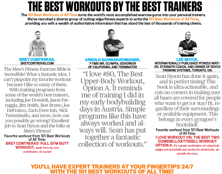 THE BEST WORKOUTS BY THE BEST TRAINERS